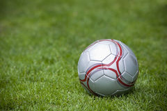 Children's Soccer Ball on the playing field Royalty Free Stock Images