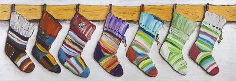 Children's  socks for Christmas gifts Stock Image