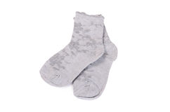 Children's socks isolated on white background Royalty Free Stock Photography