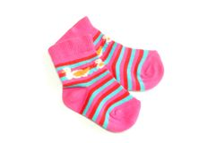 Children's socks isolated on a white background Royalty Free Stock Photography