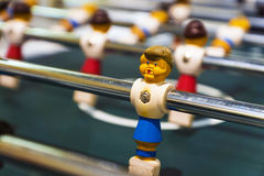 Children's sports table soccer game Royalty Free Stock Images