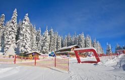 Children's stadium. Ski resort Schladming . Austria Royalty Free Stock Photos