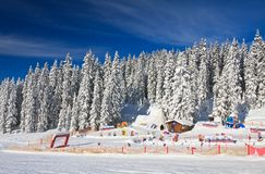 Children's stadium. Ski resort Schladming . Austria Stock Photos
