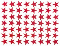 Children's stickers, red asterisk Stock Photo