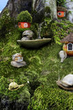 A children`s story about the life of snails in the forest Stock Images