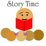 Children's story time Stock Photos