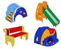 Children's street furniture vector illustration