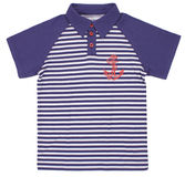 Children's striped polo t-shirt Stock Images