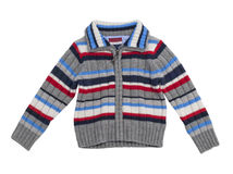 Children's stripy sweater. Royalty Free Stock Image