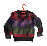 Children's stripy sweater. Stock Photo