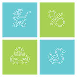 Children's subject. Four pictures - children's subject. Vector Stock Images