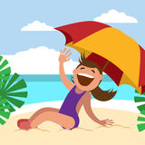 Children`s summer activities Royalty Free Stock Images