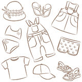 Children's summer clothes Royalty Free Stock Photography