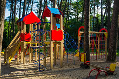 Children's summer playground at public park Royalty Free Stock Images