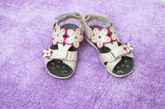 Children's summer sandals Stock Photography