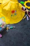 Children's summer yellow hat Royalty Free Stock Photos