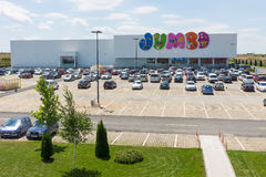 Children`s Supermarket in Burgas, Bulgaria royalty free stock photos
