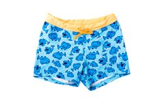 Children`s swimming trunks on white isolated background.  royalty free stock photo