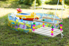 Children's swing Stock Photo