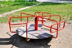 Children`s swing carousel stock images