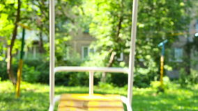 Children's swing for entertainment area close-up shooting Stock Image