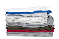 Children's T-shirts stacked Stock Image