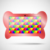 Children s tablet with educational games. Children s tablet in the form of a butterfly for your design Stock Photo