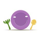 Children's tableware vector Stock Image