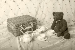 Children's tea set Stock Images