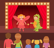 Children`s theatrical performance. Royalty Free Stock Photography