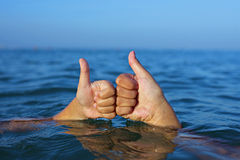 Children's Thumbs Up Stock Photos