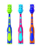 Children's toothbrushes Royalty Free Stock Images