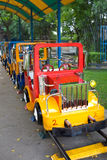 Children's tourism train. Train for children in park Royalty Free Stock Photography