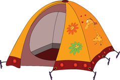 Children's tourist tent Royalty Free Stock Images