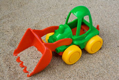 Children's toy: bulldozer Royalty Free Stock Images