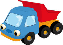 The children's toy car. A dump-body truck Royalty Free Stock Images