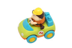 Children's toy car with driver. Stock Image