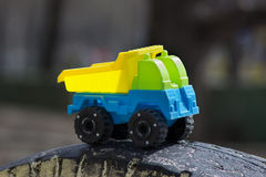 Children's toy - the car truck Stock Photography