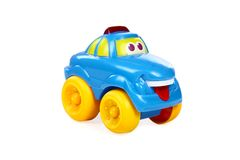 Children's toy the car  on a white Royalty Free Stock Image
