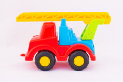 Children`s toy car. On a white background Stock Images