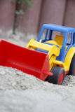 Children's toy, an excavator Stock Photo