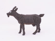 Children`s toy goat. On a white background Royalty Free Stock Image
