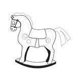 Children's toy. Icon. Vector illustration. Horse. Children's toy rocking. Vector illustration Royalty Free Stock Photography