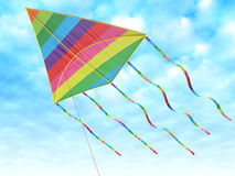 Children's toy - a kite Royalty Free Stock Images