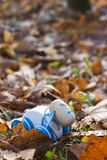 Children's toy lamb. Hand made stock photography