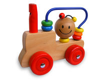 Children's toy locomotive Stock Photography