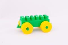 Children`s toy machine constructor. Designer children`s toy machine on a white background Royalty Free Stock Images