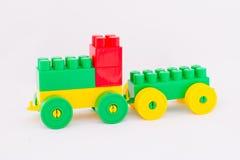 Children`s toy machine constructor. Designer children`s toy machine on a white background Stock Photos