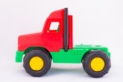 Children`s toy machine. On a white background Royalty Free Stock Images