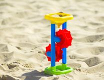 Children`s toy on the sand Royalty Free Stock Photography